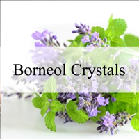 Borneol crystals